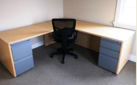 Custom Desking designed  to fit  Vermont Engineering firm